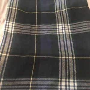 Jcrew blanket scarf navy plaid